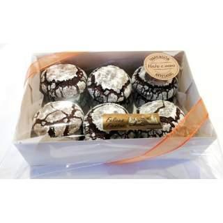 Caja de 12 Chocolate Crinkles