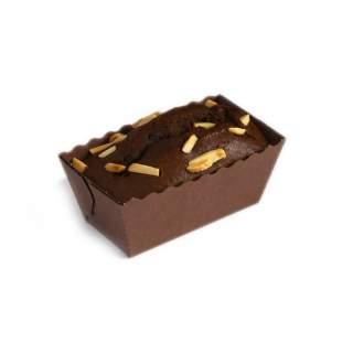 Bizcocho Individual de Chocolate Negro y Almendra