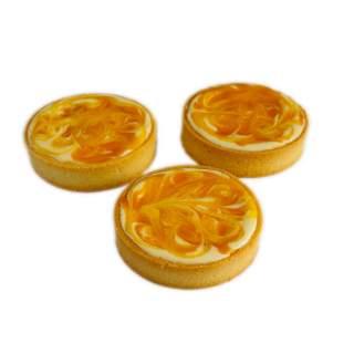 Tartaleta Individual de Queso Crema, Mango y Maracuyá